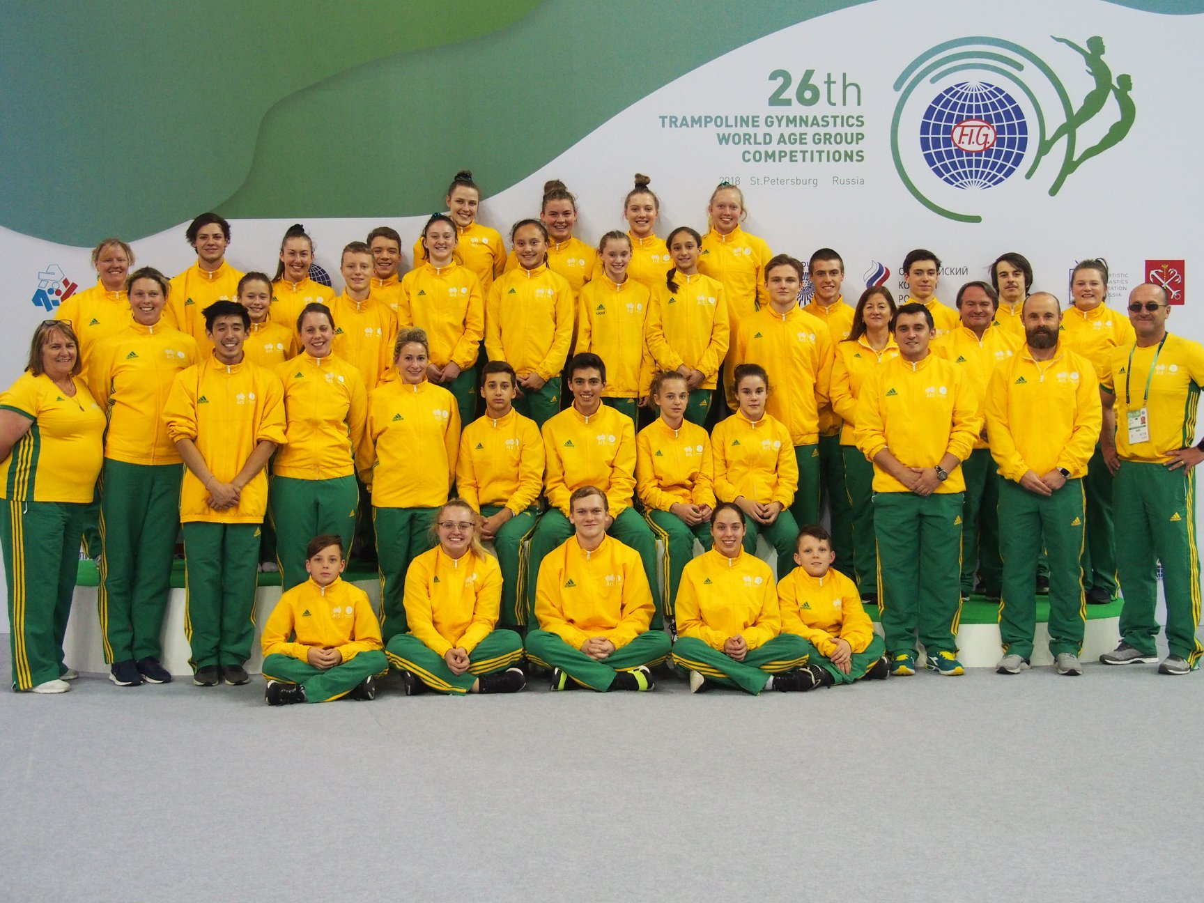 2018 World Age Games Australian Trampoline Gymnastics Team